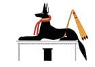 Afbeelding Anubis als jackhals