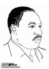 Kleurplaat Martin Luther King Jr