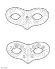 Kleurplaat Maskers