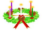 Afbeelding adventskrans