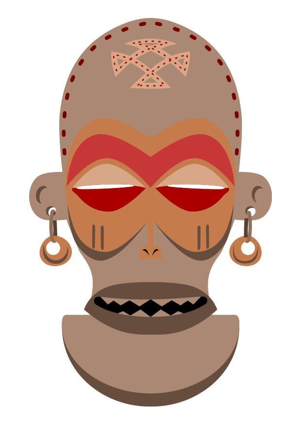 Afbeelding Prent Afrikaans Masker Za 239 Re Angola Afb 27455