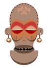Afbeelding Afrikaans masker - Zaïre-Angola