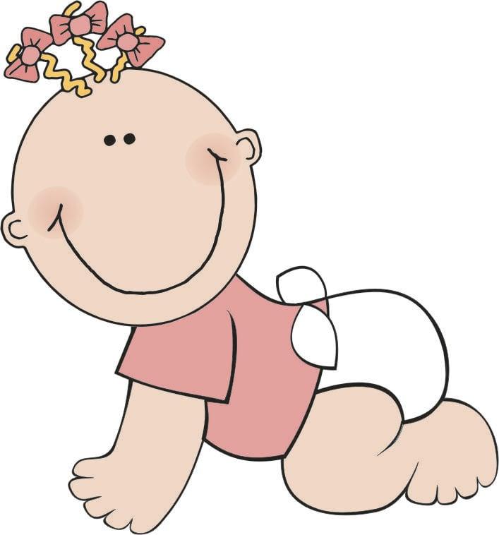afbeelding prent baby meisje afb 16196