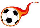 Afbeelding bal met vlam