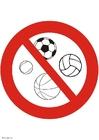 Afbeelding balspel verboden