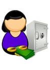 Afbeelding bankbediende