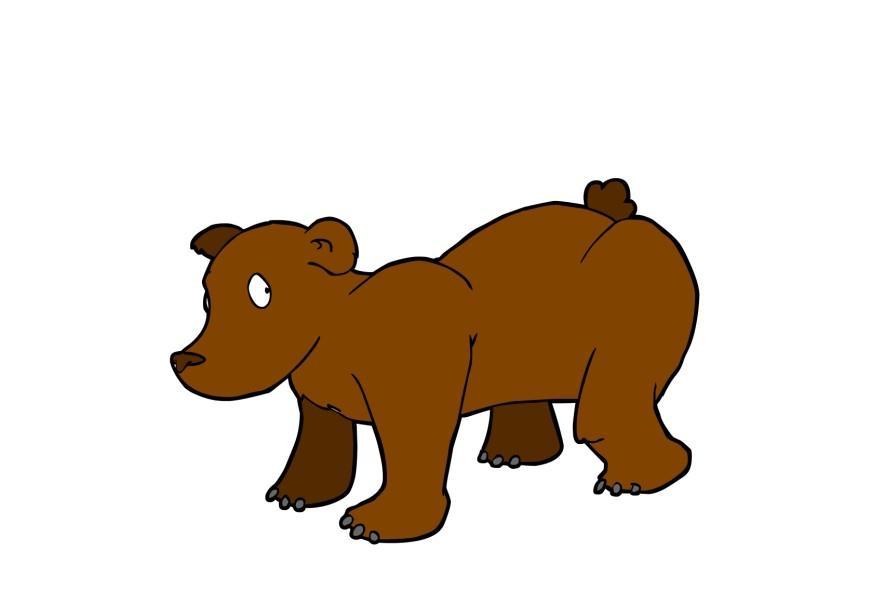 Afbeelding prent beer afb 13797 - Afbeelding in ...