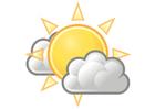 Afbeelding bewolkt met zon