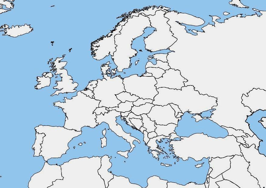 afbeelding blanco kaart europa gratis afbeeldingen om te