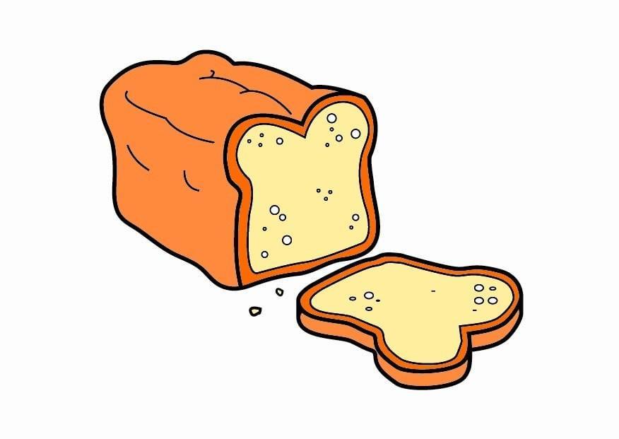afbeelding prent brood afb 23322