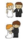 Afbeelding bruid en bruidegom