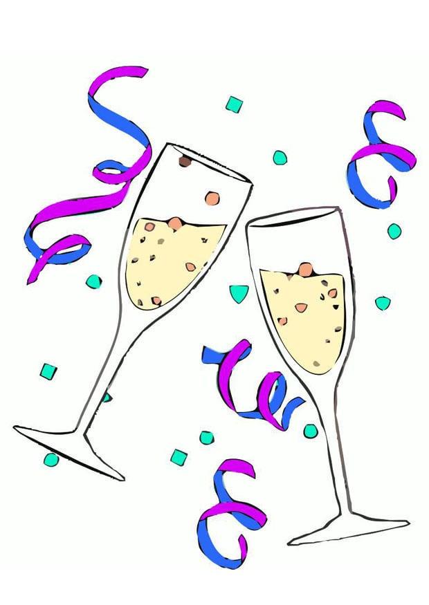 Afbeelding Prent Champagne Glazen Afb 20220