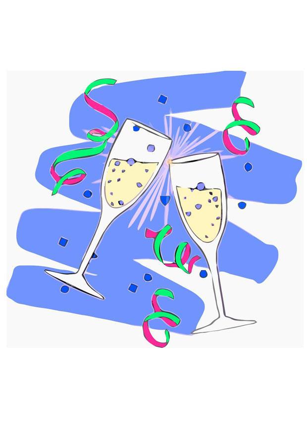 Afbeelding Prent Champagne Glazen Afb 23921