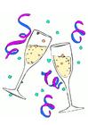 Afbeelding champagne glazen