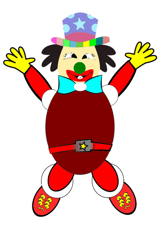 Afbeelding Prent Clown Afb 20216