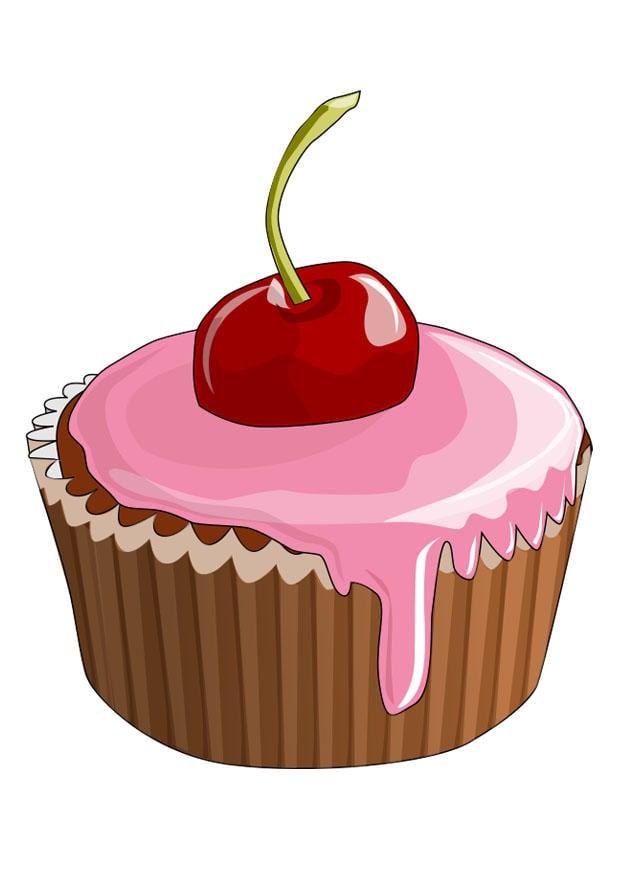 Afbeelding - prent cupcake - Afb 29107