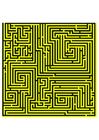 Afbeelding doolhof - geel