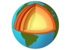 Afbeelding doorsnede aarde