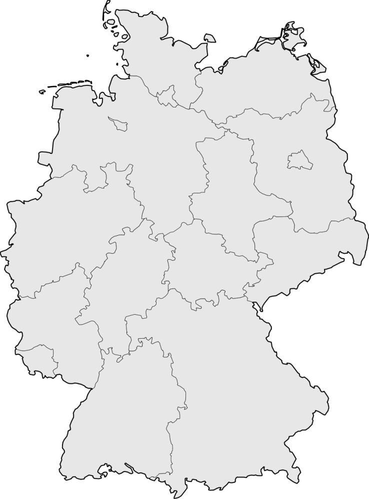 Kleurplaat Kaart Europa Afbeelding Prent Duitsland Afb 16838