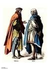 Afbeelding edelman en stedeling ( 14e eeuw )