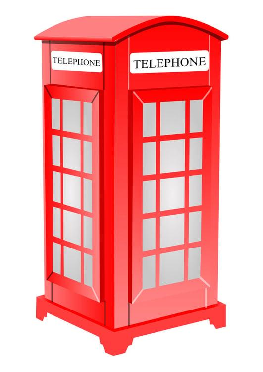 Afbeelding Prent Engelse Telefooncel Afb 26189