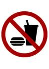 Afbeelding eten en drinken verboden