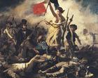 Afbeelding Eugene Delacroix - Vrijheid leidt het volk