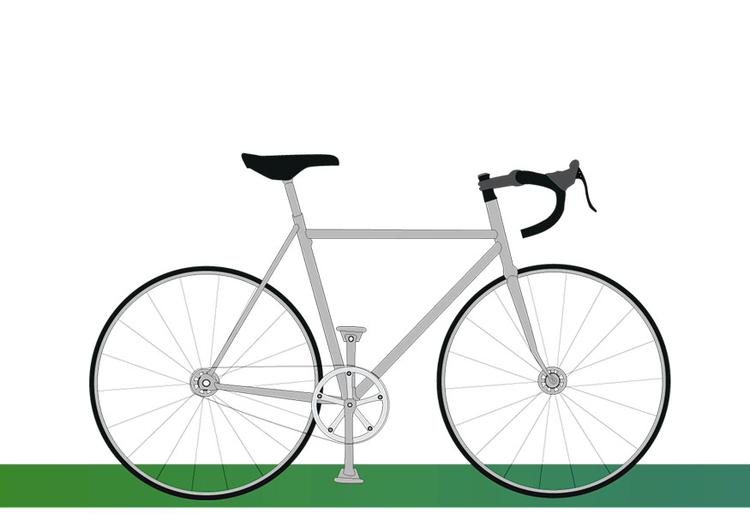 afbeelding prent fiets 6 afb 9802