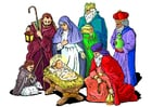 Afbeelding geboorte van Jezus