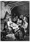 Kleurplaat geboorte van Jezus