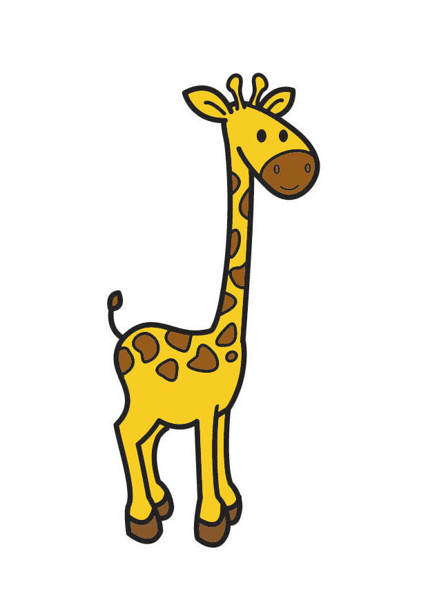 Afbeelding prent giraf afb 21081 - Afbeelding in ...