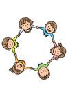Afbeelding groep kinderen