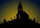 Afbeelding Halloween kerk