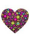 Afbeelding hart met bloemen
