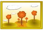 Afbeelding herfstlandschap