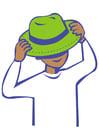 Afbeelding hoed opzetten