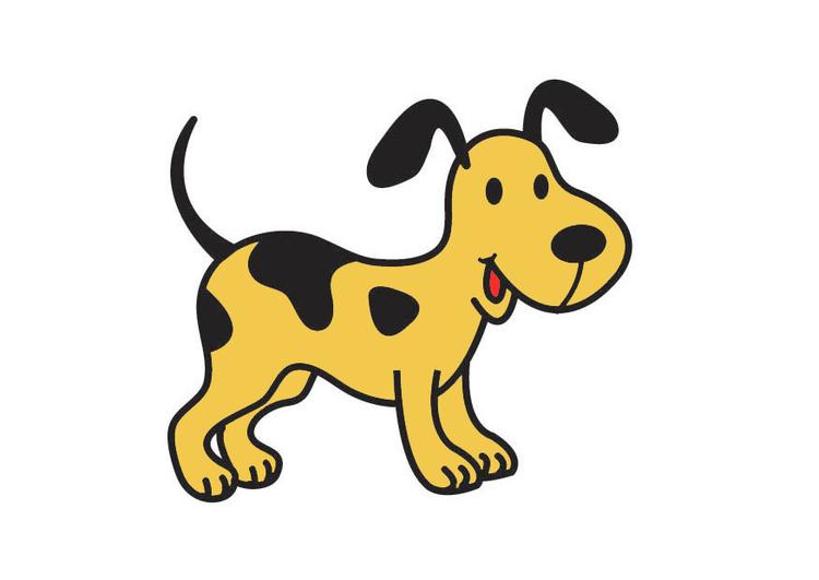 Afbeelding prent hond afb 21037 - Afbeelding in ...