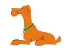 Afbeelding hond - liggen