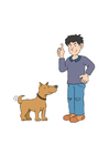 Afbeelding hond met baasje