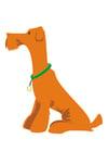 Afbeelding hond - zitten