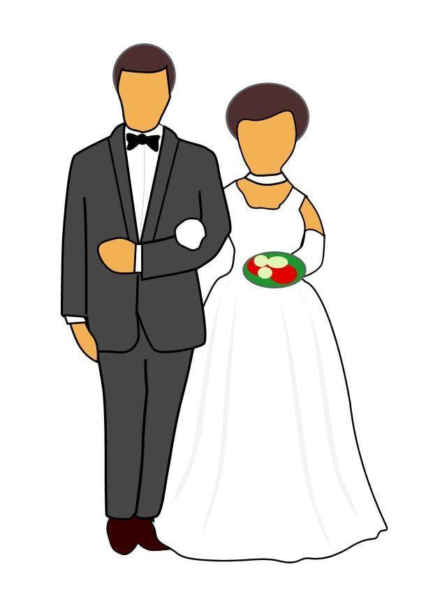 Afbeelding prent huwelijk afb