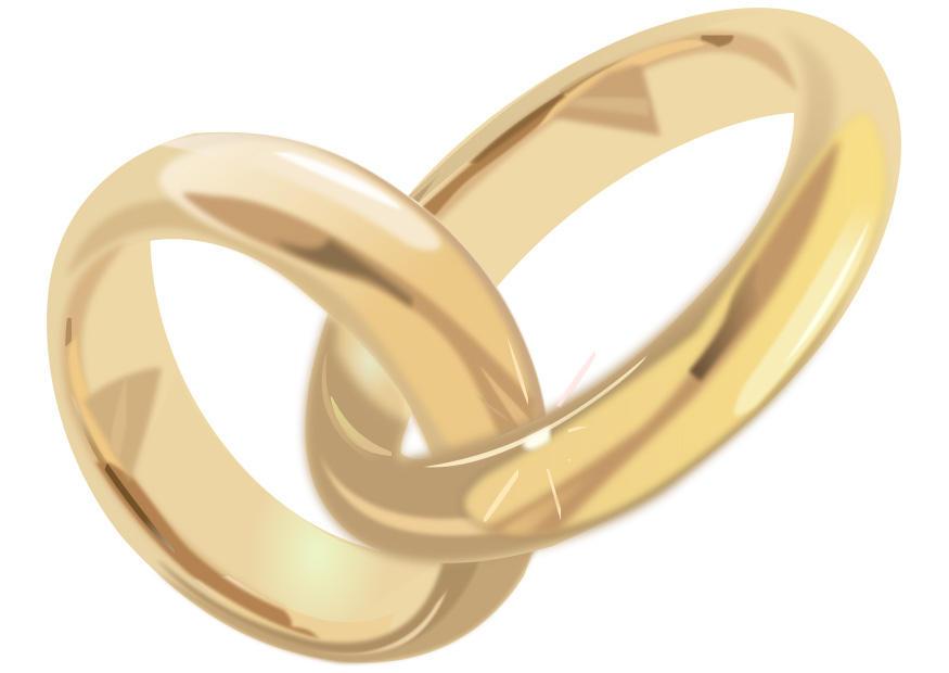 Afbeelding - prent huwelijksringen - Afb 28309
