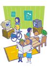Afbeelding in het jeugdhuis
