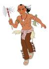 Afbeelding indiaan op oorlogspad