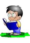 Afbeelding jongen met boek
