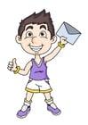 Afbeelding jongen met brief