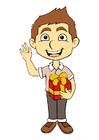 Afbeelding jongen met geschenk