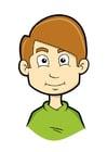 Afbeelding jongen met hoogblond haar