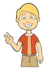 Afbeelding jongen - vrede