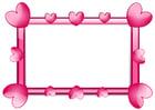 Afbeelding kader hartjes